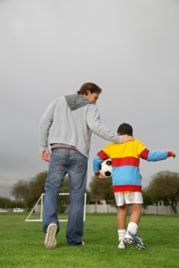 father_and_son_soccer_game