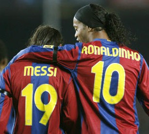 ronaldinho and messi