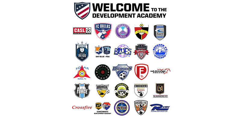 First 25 elite Girls Development Academy clubs announced by USSF today